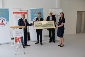 v.l. Josef Mederer, Jens Luther, Jürgen Salzhuber, Karin Häringer
